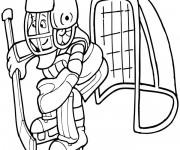 Coloriage et dessins gratuit Gardien Hockey sur glace à imprimer