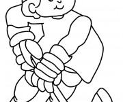 Coloriage dessin  Hockey 1