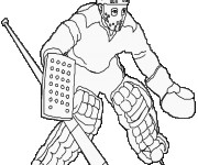 Coloriage dessin  Hockey 11