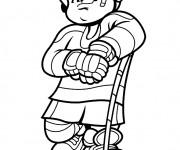 Coloriage dessin  Hockey 16