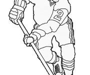 Coloriage dessin  Hockey 17