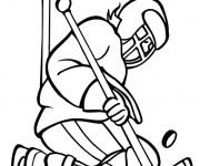 Coloriage dessin  Hockey 8