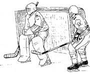 Coloriage et dessins gratuit Hockey au crayon à imprimer