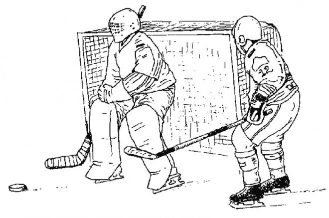 Coloriage Hockey.Coloriage Hockey Au Crayon Dessin Gratuit A Imprimer