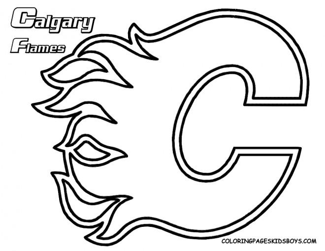 Coloriage et dessins gratuits Hockey Canadien à imprimer