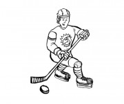 Coloriage et dessins gratuit Hockey facile à imprimer