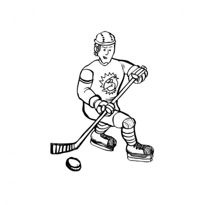 Coloriage et dessins gratuits Hockey facile à imprimer