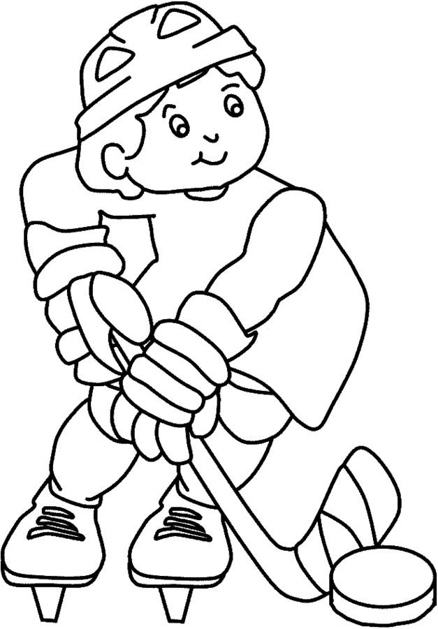 Coloriage et dessins gratuits Hockey pour enfant à imprimer