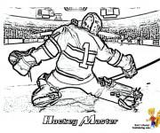 Coloriage et dessins gratuit Hockey réaliste à imprimer