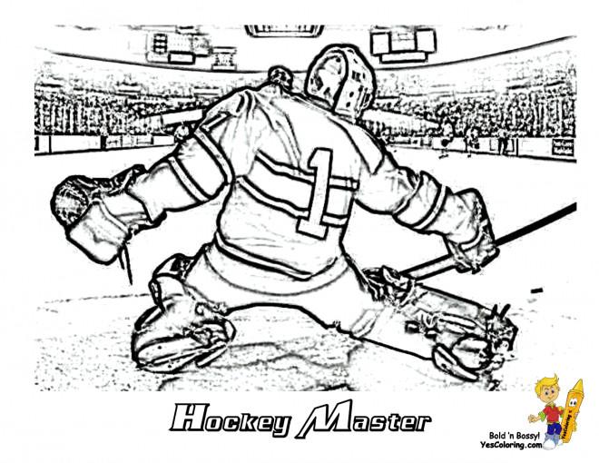 Coloriage Hockey.Coloriage Hockey Realiste Dessin Gratuit A Imprimer