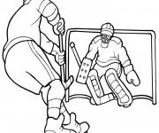 Coloriage et dessins gratuit Hockey stylisé à imprimer