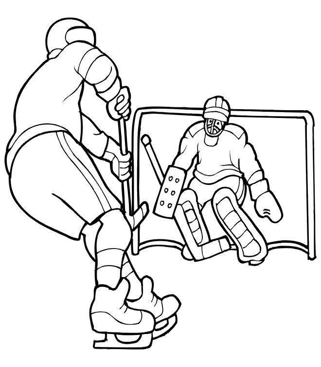 Coloriage et dessins gratuits Hockey stylisé à imprimer