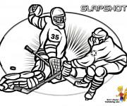 Coloriage et dessins gratuit Hockey sur glace à colorier à imprimer