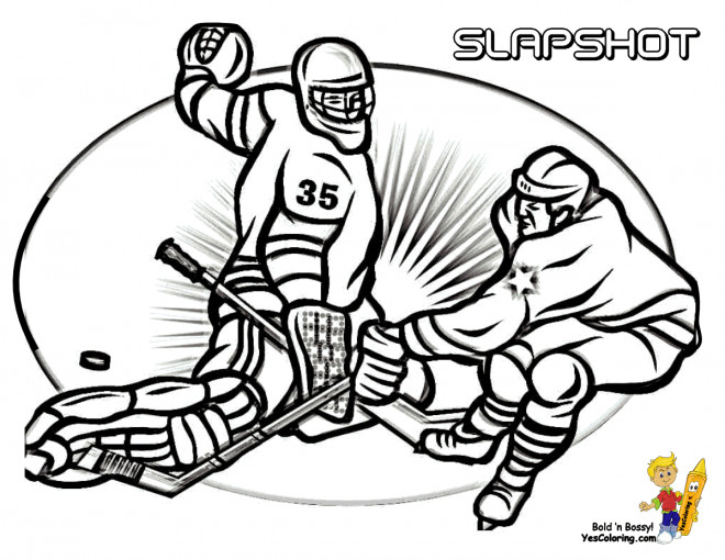 Coloriage et dessins gratuits Hockey sur glace à colorier à imprimer