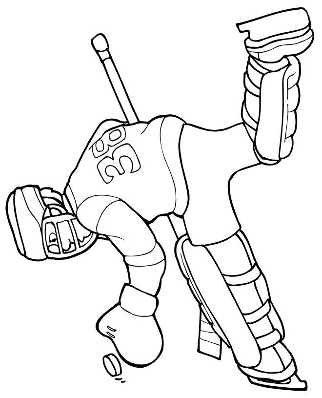 Coloriage et dessins gratuits Hockey sur glace à télécharger à imprimer
