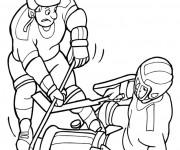 Coloriage et dessins gratuit Hockey sur glace et La Confrontation à imprimer
