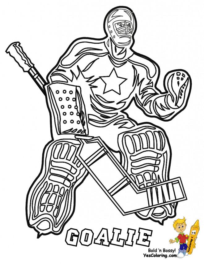 Coloriage et dessins gratuits Hockey sur glace silhouette à imprimer