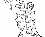 Coloriage et dessins gratuit Joie de but Hockey de glace à imprimer