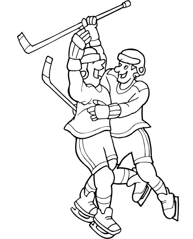 Coloriage et dessins gratuits Joie de but Hockey de glace à imprimer