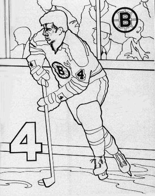 Coloriage et dessins gratuits Joueur de Hockey et Spectateurs à imprimer