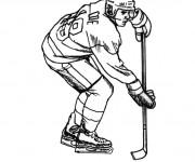 Coloriage et dessins gratuit Joueur Hockey à imprimer