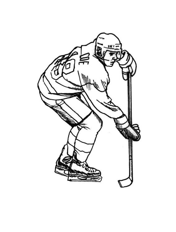 Coloriage et dessins gratuits Joueur Hockey à imprimer