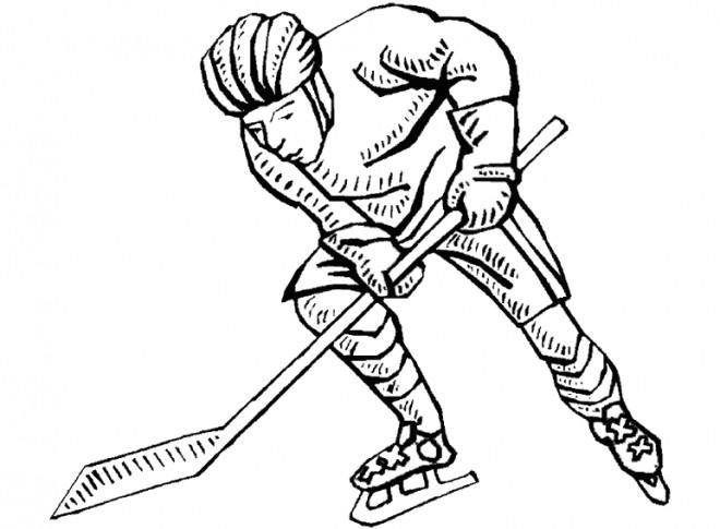 Coloriage et dessins gratuits Joueur Hockey sur terrain à imprimer