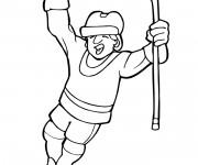 Coloriage et dessins gratuit Joyeux Joueur de Hockey à imprimer
