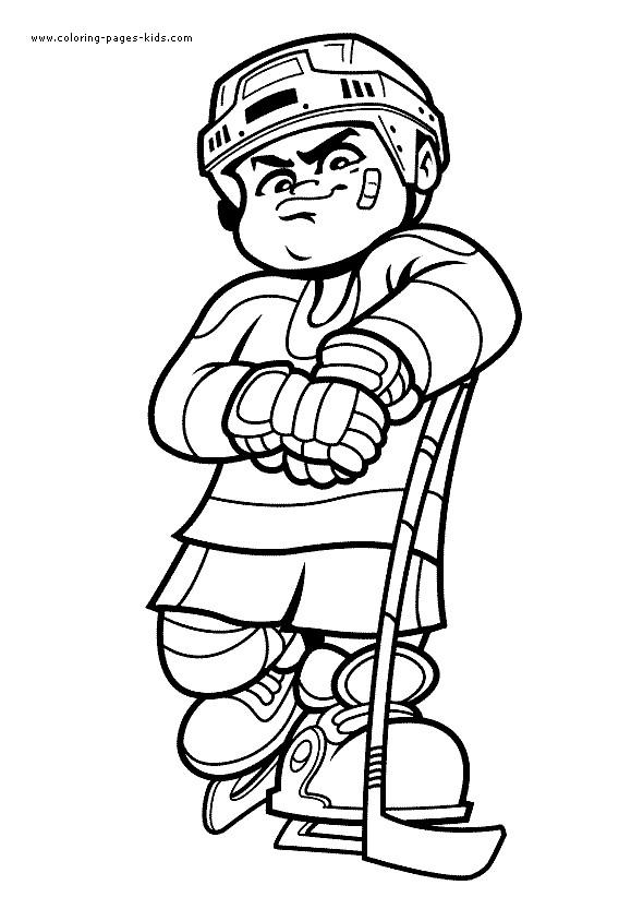 Coloriage Petit Joueur De Hockey Sur Glace Dessin Gratuit à