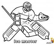 Coloriage Un Gardien Hockey