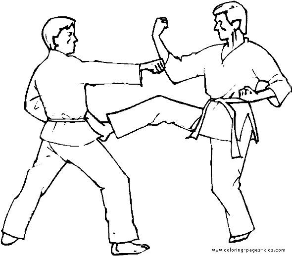 Coloriage et dessins gratuits Art martial à télécharger à imprimer