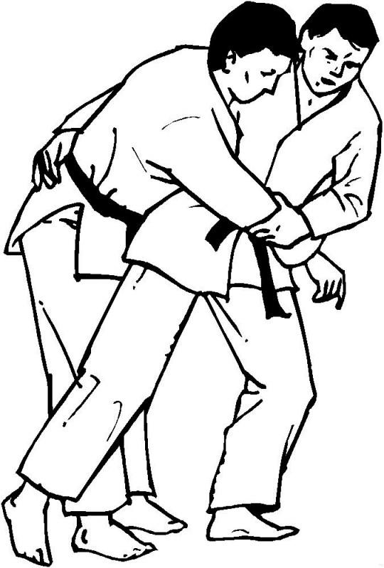 Coloriage et dessins gratuits Combat Judo à imprimer