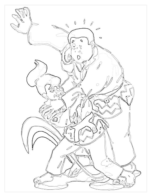 Coloriage et dessins gratuits Fille Judoka invincible à imprimer