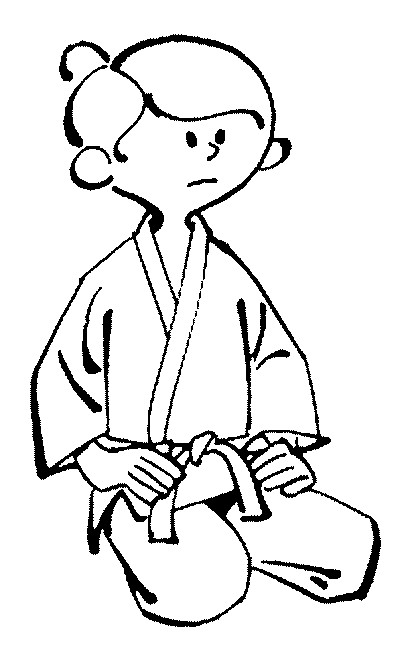 Coloriage et dessins gratuits Fille portant Kimono de Judo à imprimer