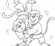 Coloriage dessin  Judo 10