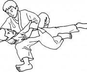 Coloriage dessin  Judo 11