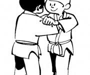 Coloriage dessin  Judo 16