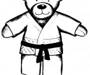 Coloriage dessin  Judo 19