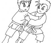Coloriage dessin  Judo 3