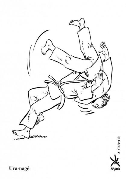 Coloriage et dessins gratuits Judo à découper à imprimer