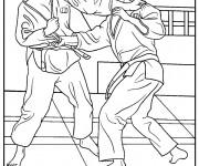 Coloriage et dessins gratuit Judo Art Martial à imprimer