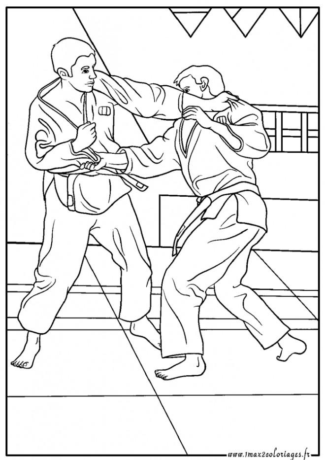 Coloriage et dessins gratuits Judo Art Martial à imprimer