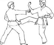 Coloriage Judo attaque