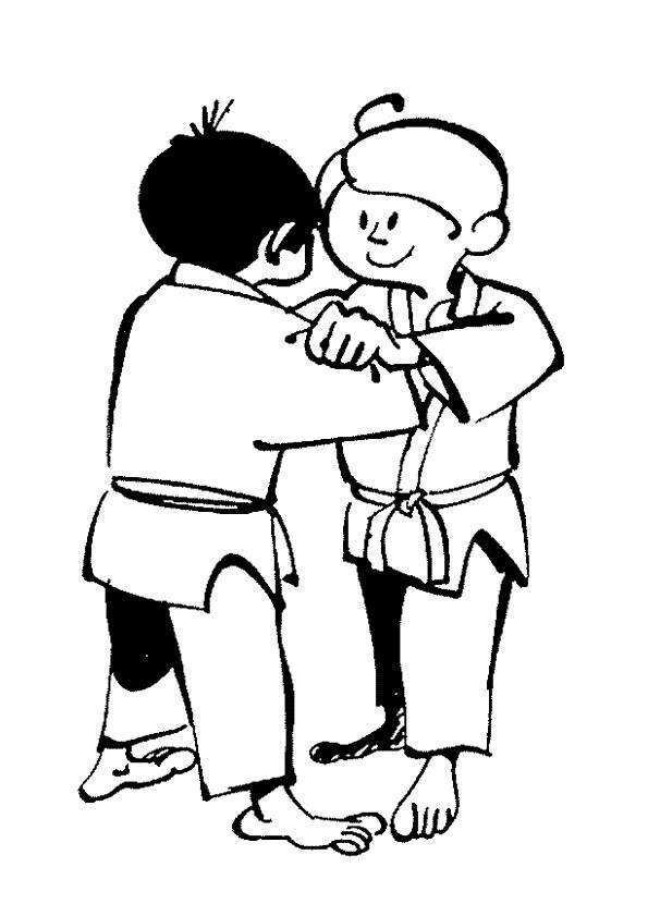 Coloriage et dessins gratuits Judo en couleur à imprimer