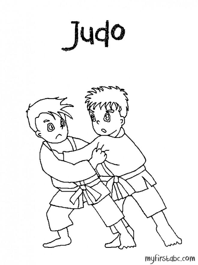 Coloriage et dessins gratuits Judo et Judokas pour enfant à imprimer