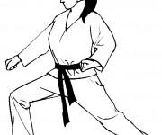 Coloriage Judo garde