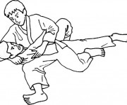 Coloriage Judo Ippon