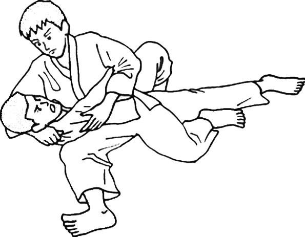 Coloriage et dessins gratuits Judo Ippon à imprimer
