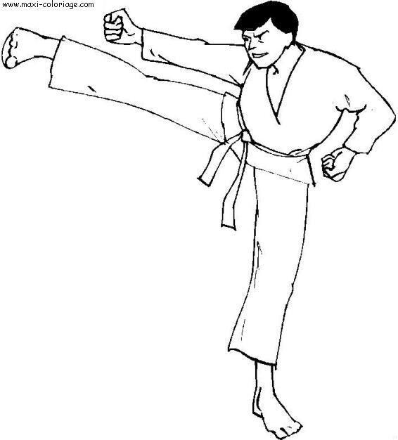 Coloriage et dessins gratuits Judo Karate à imprimer