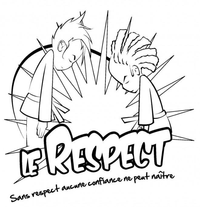 Coloriage et dessins gratuits Judo Le respect à imprimer